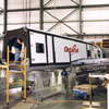X-34 on hangar floor at Dryden Flight Research Center
