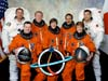 STS-114 astronauts Steve Robinson, Jim Kelly, Andy Thomas, Wendy Lawrence, Charlie Camarda, Eileen Collins and Soichi Noguchi.