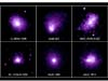 These six galaxy clusters are among 38 that scientists observed with Chandra to help determine the Hubble constant.  The clusters' distances range from 1.4 to 9.3 million light years from Earth.