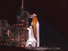 Space Shuttle Discovery awaits launch at the Kennedy Space Center, Fla., launch pad 39B.