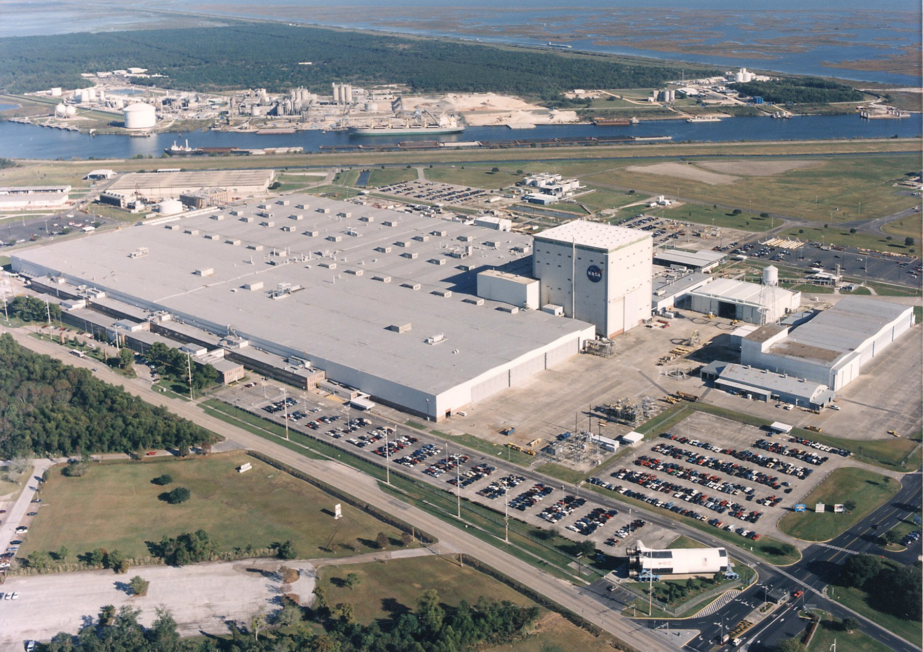 Nasa Aerial View Of Michoud Assembly Facility