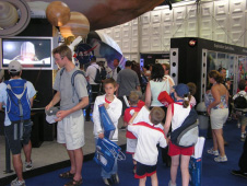 Visitors to a Marshall exhibit