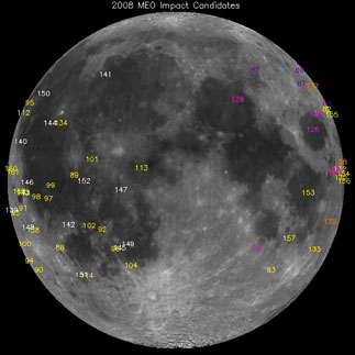 MSFC Lunar Impact 2008 Flash Detections