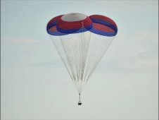 Ares I main cluster parachute test at the U.S. Army Proving Grounds
