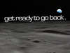 Moon landscape with text: get ready to go back.