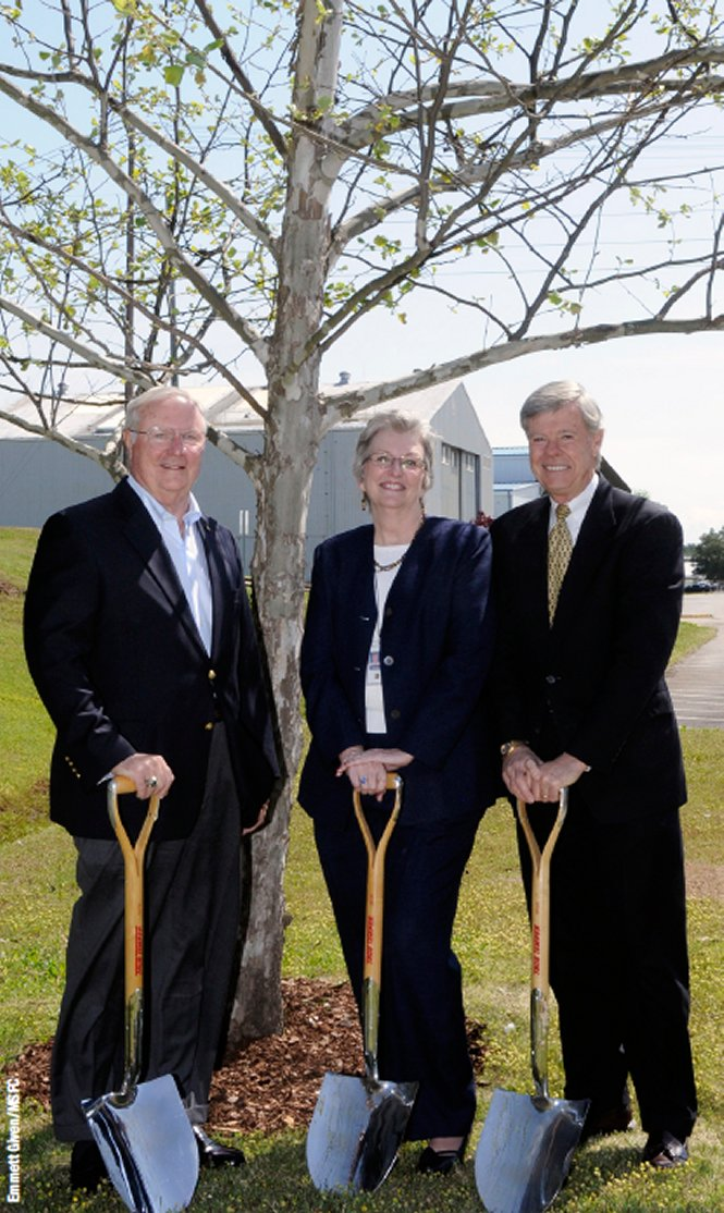 2009 moon tree re-dedication at Marshall Space Flight Center