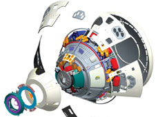Exploded view of the Crew Exploration Vehicle