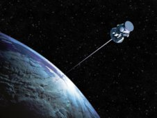 Artist concept of space tether