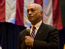 NASA Administrator Charlie Bolden addressed about 600 workers at the Michoud Assembly Facility in New Orleans Aug. 20, 2009.
