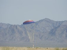 Image from April 14, 2010 NASA drogue parachute drop test at the U.S. Army Yuma Proving Ground