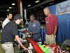 Tuskegee students talk to visitors during Rocket Fair