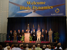 Gov. Jindal, Mayor Landrieu and NASA welcome Blade Dynamics to Michoud.