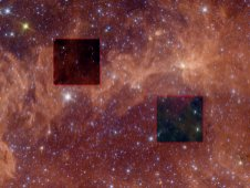 Strong infrared signals near the plane of the Milky Way