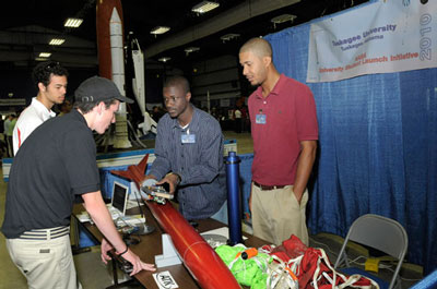 Student rocketeers from Tuskegee University in Tuskegee, Ala.