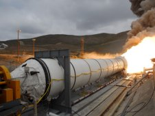 Reusable solid rocket motor testing