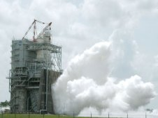 Space shuttle main engine testing at Stennis