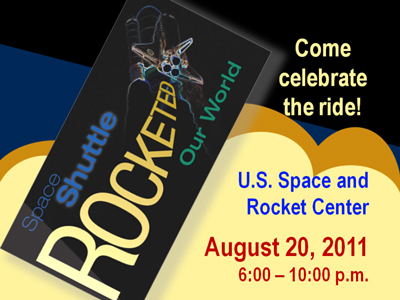 U.S. Space and Rocket Center Shuttle celebration poster