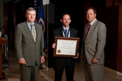 Among the over 200 Marshall Space Flight Center team members honored July 28 was Robert Wingate, lead aerospace engineer in the Engineering Directorate's Spacecraft & Vehicle Systems Department.