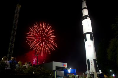 Guests were treated to a fabulous fireworks display near the Davidson Center at the end of the night.