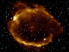 Composite image of G299.2.2.9, an intriguing supernova remnant