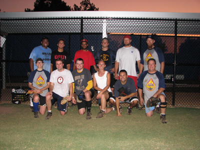 The Fireballs, Division C champions from the 2011 MARS Softball Club