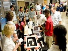 Students share their projects with NASA engineers and rocket systems managers