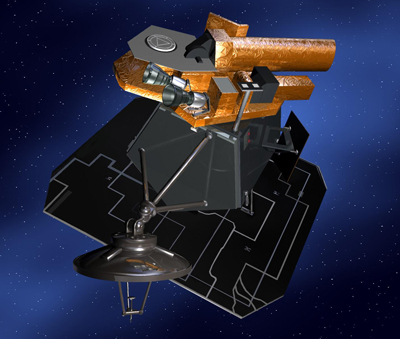 Artist concept of NASA's Deep Impact spacecraft.