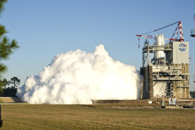 During the Dec. 1 80-second duration J-2X test firing, NASA began characterizing the rocket engine's combustion stability to understand more about the engine's performance and robustness.