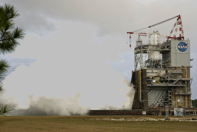 On Dec. 14, NASA engineers conducted their final J-2X engine test for 2011 -- the 10th in a series -- at the A-2 test stand at the Stennis Space Center. The upper stage engine is a key component of the Space Launch System, a new heavy-lift launch vehicle capable of missions beyond low-Earth orbit.