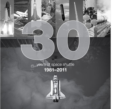 Front cover of the April 14 issue of the Marshall Star marking the 30th anniversary of the space shuttle.
