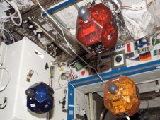 SPHERES satellites aboard the International Space Station (NASA)