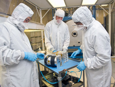 Researchers at the Marshall Space Flight Center are testing the Dual Ion Spectrometer flight sensors for the Magnetospheric Multiscale -- or MMS -- mission, a NASA Solar Terrestrial Probes study.