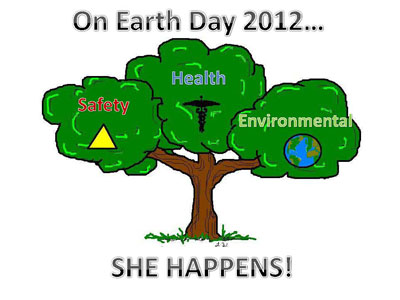 On Earth Day 2012, SHE HAPPENS!