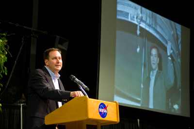The Marshall Space Flight Center team came together April 5 to say goodbye to its 11th center director, Robert Lightfoot, as he takes a new path with NASA as acting associate administrator at Headquarters. Lightfoot thanked the center for its unwavering support and talented work.