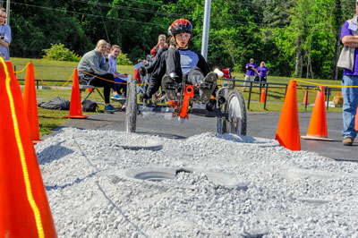 The team from Petra Mercado High School in Humacao, Puerto Rico, won first place in the high school division of the 19th annual NASA Great Moonbuggy Race. It was a winning year for Puerto Rico - second place in the high school division went to Colegio Nuestra Senora del Perpetuo Socorro in Humacao.