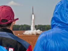 Students watch a rocket launch during the 2012 Student Launch Projects challenge in Toney, Ala.