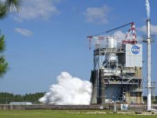 J2X engine test on April 26, 2012 at Stennis Space Center.