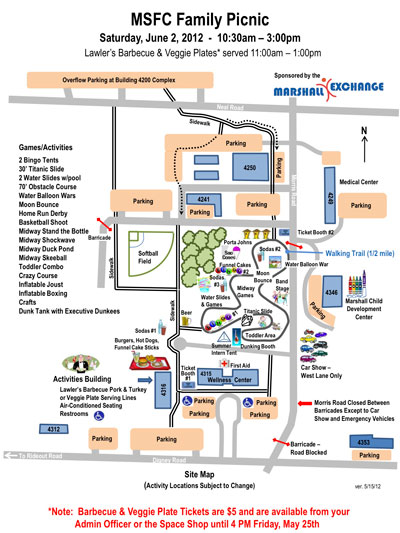2012 Exchange Picnic site map