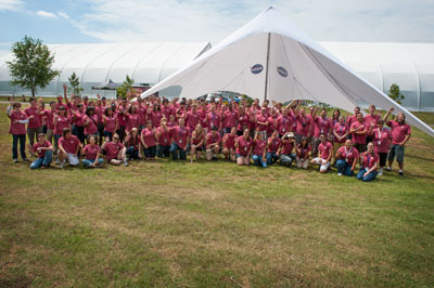 Most of the 150 summer student interns at the Marshall Space Flight Center were among the volunteers at the MSFC Family Picnic June 2, hosted by the Marshall Exchange.