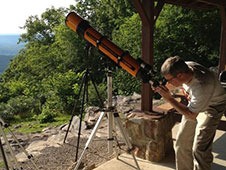A variety of telescopes were set up for safe viewing of the Venus Transit for scouts, educators, and general public at Lookout Mountain, Ala.