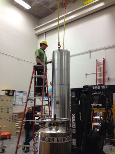 Marshall engineers test SUMI in the National Space Science and Technology Center's high bay.