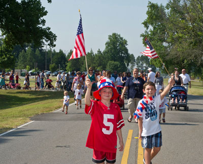 Children from the Marshall Child Development Center -- along with their families -- celebrated America's birthday with a big parade June 29.