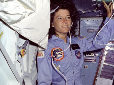 On June 18, 1983, Sally Ride made history, becoming the first American woman to go to space. Ride, right, floats on space shuttle Challenger's mid-deck during her historic STS-7 flight in 1983. She passed away July 23 at age 61 after a 17-month battle with pancreatic cancer.