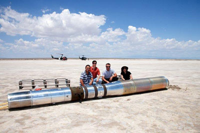 Members of NASA's Hi-C team prepare to recover the one-of-a-kind telescope at White Sands Missile Range following the sounding rocket's successful launch.