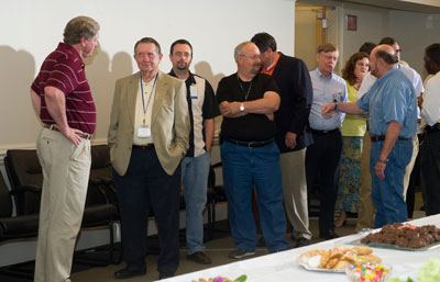 Marshall Space Flight Center team members gathered July 27 to bid farewell to Acting Director Gene Goldman.