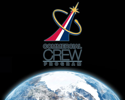 The logo of NASA's Commercial Crew Program, which is partnering with the commercial industry to develop America's next human space transportation system to low-Earth orbit.