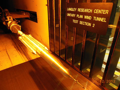 Wind tunnel testing on the 70-metric-ton configuration of SLS was also carried out at the Langley Research Center.
