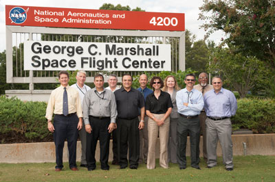 Marshall Space Flight Center's Chief Technologist Andrew Keys hosted a NASA Center Chief Technologists' Council tour at Marshall on Aug. 29.