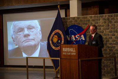 Neil Armstrong's authorized biographer Dr. James R. Hansen brings many in the workforce to tears as he shares his close relationship with the American hero.