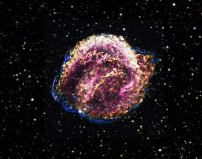 Image of the Kepler supernova remnant.